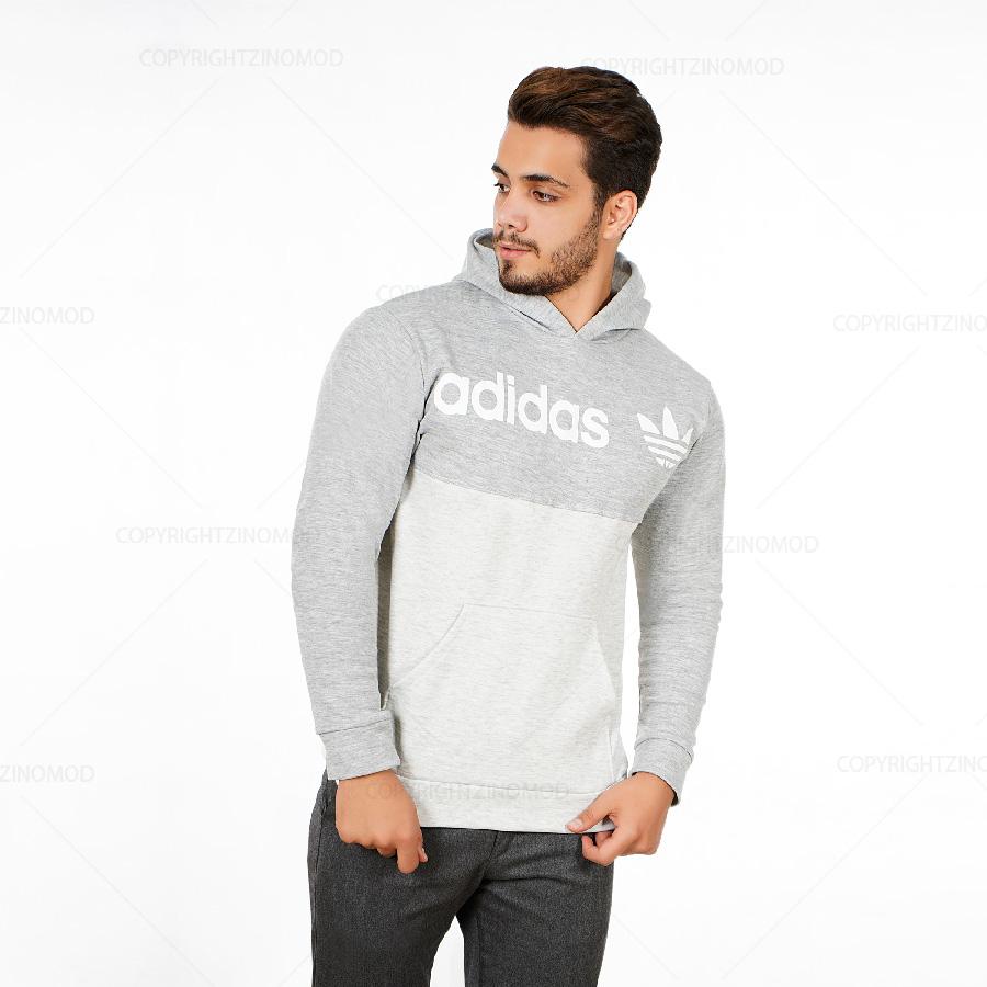 هودی مردانه adidas مدل 1169_رنگ طوسی