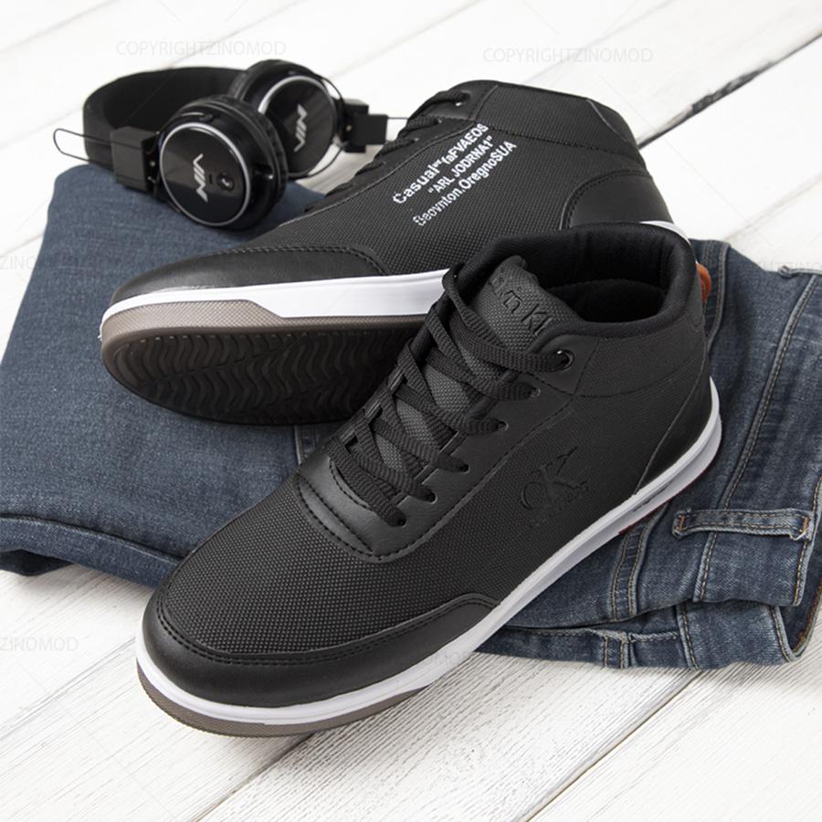 کفش ساقدار مردانه Hopper مدل 1221_رنگ مشکی