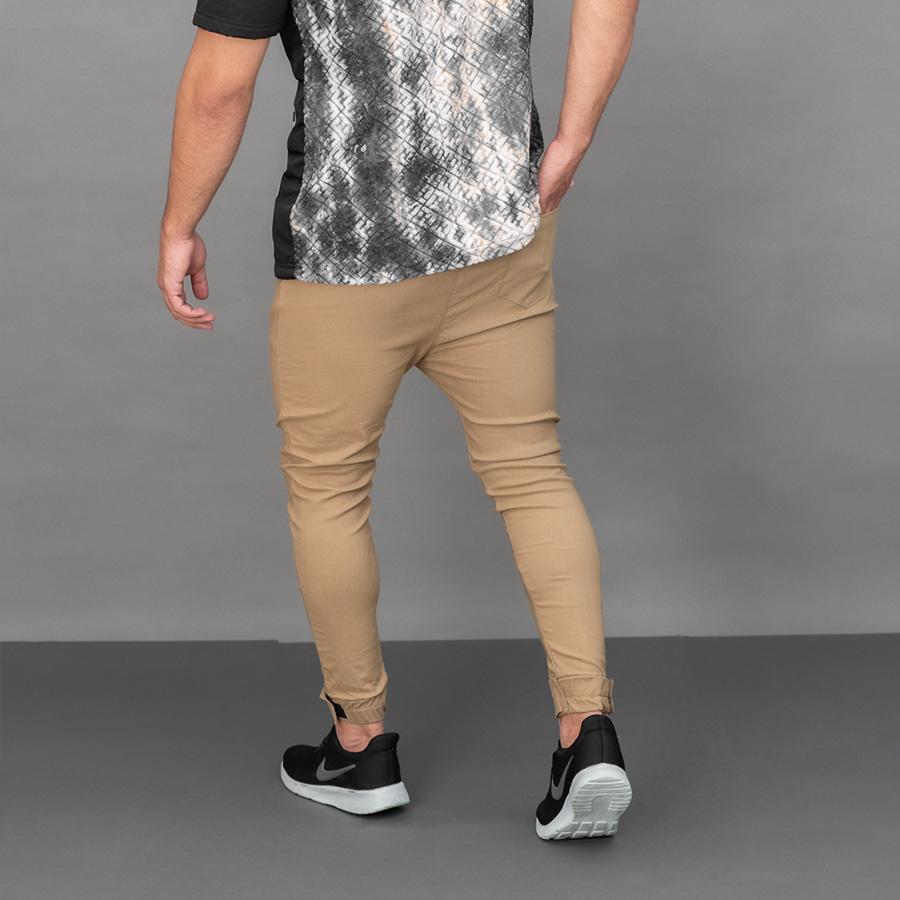 شلوار مردانه Moka مدل 1327_رنگ بادامی سیر