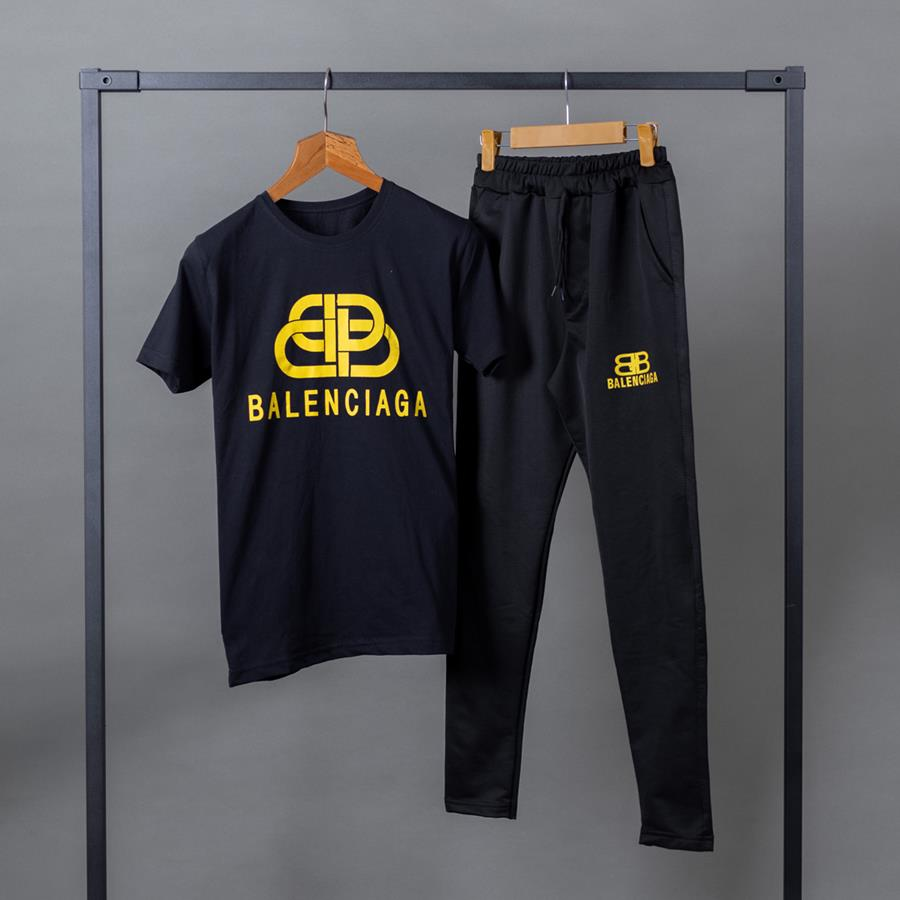 ست تیشرت و شلوار Balanciaga مدل 1360_رنگ مشکی
