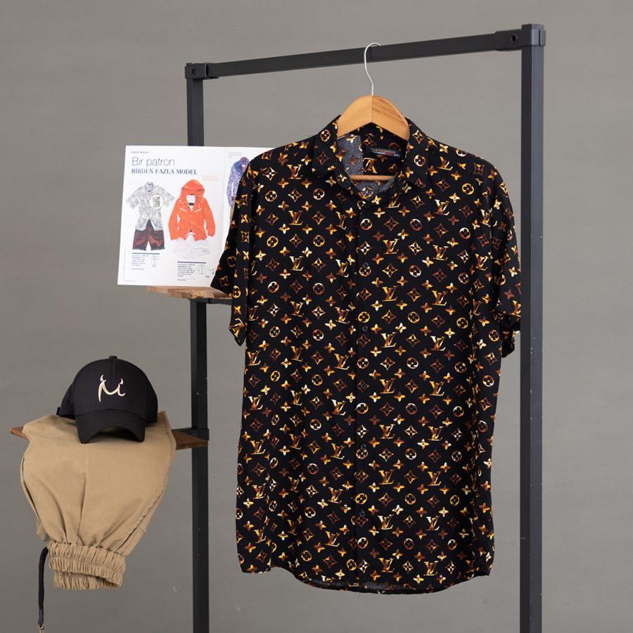 پیراهن هاوایی Zarab مدل 1418_رنگ مشکی