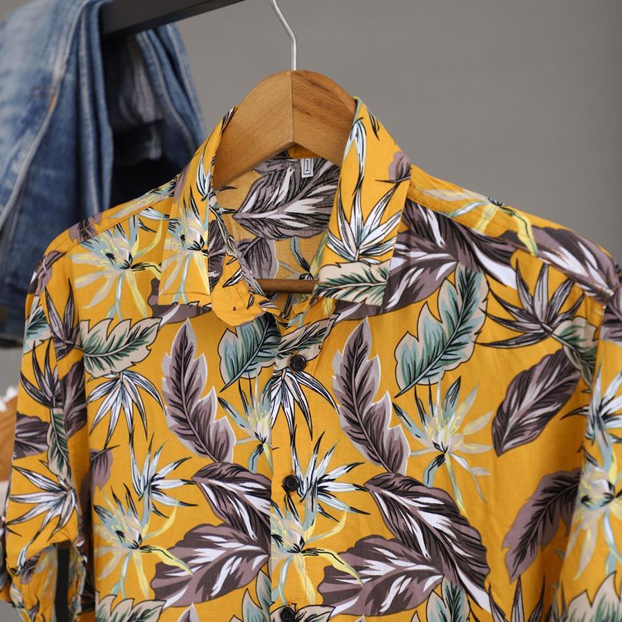 پیراهن هاوایی Zonger مدل 1420_رنگ زرد