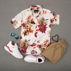 پیراهن هاوایی Golzar مدل 1422
