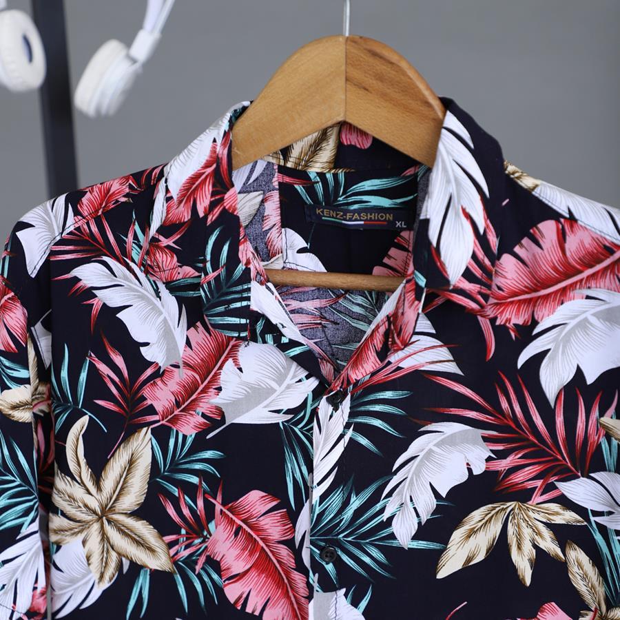 پیراهن هاوایی Paniz مدل 1432_رنگ مشکی
