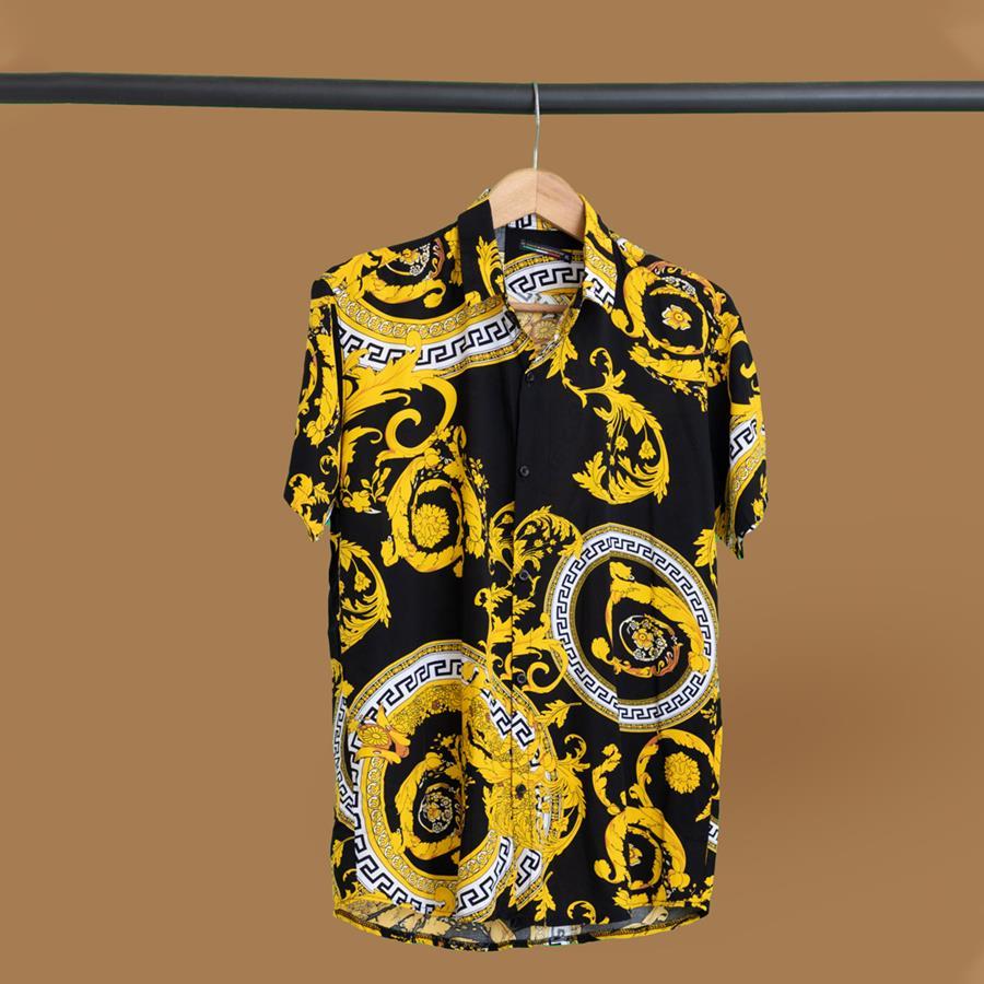 پیراهن هاوایی Rolaxiz مدل 1449_رنگ مشکی