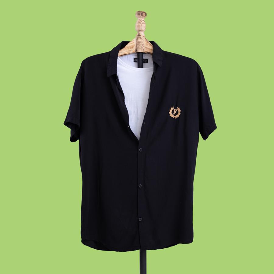 پیراهن هاوایی Moharam مدل 1455_رنگ مشکی