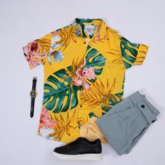 پیراهن هاوایی Golar مدل 1466