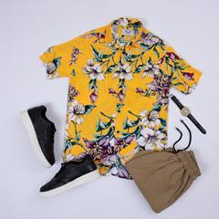 پیراهن هاوایی Fariz مدل 1467
