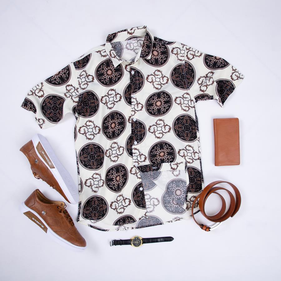 پیراهن هاوایی Herna مدل 1472_رنگ سفید