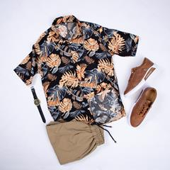 پیراهن هاوایی Saran مدل 1474