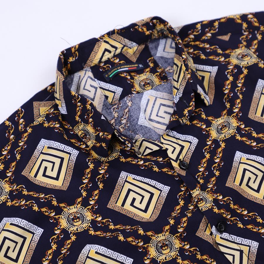 پیراهن هاوایی Moshen مدل 1476_رنگ سرمه ای