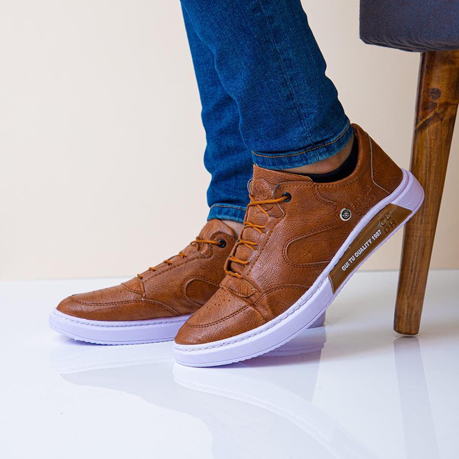 کفش مردانه Kano مدل 1480_رنگ قهوه ای  تیره