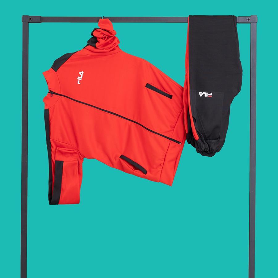 ست ورزشی مردانه Hanri مدل 1486_رنگ قرمز