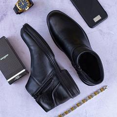 کفش نیم بوت چرم مردانه Klasid مدل 1508