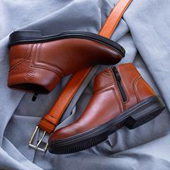 کفش نیم بوت چرم مردانه Taran مدل 1509