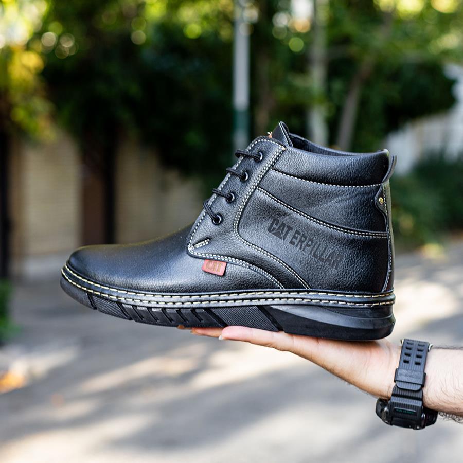 کفش نیم بوت چرم مردانه Alen مدل 1510_رنگ مشکی