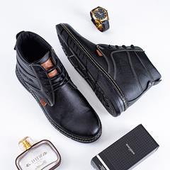 کفش نیم بوت چرم مردانه Alen مدل 1510