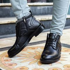 کفش نیم بوت چرم مردانه Kenda مدل 1522