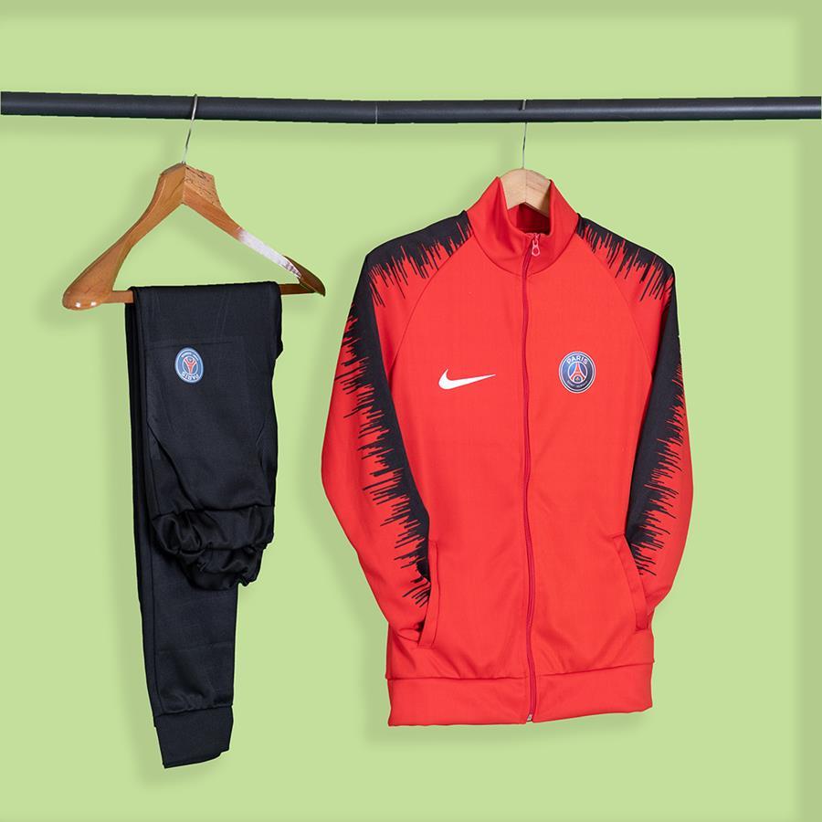ست سوئیشرت شلوار ورزشی Paris مدل 1529_رنگ قرمز
