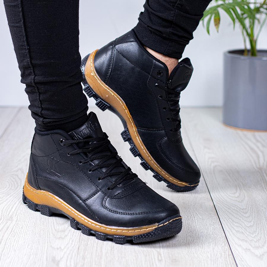 کفش نیم بوت مردانه Damor مدل 1558_رنگ مشکی