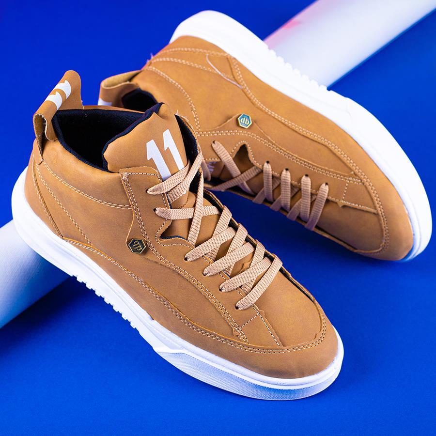 کفش نیم بوت مردانه Kaper مدل 1562_رنگ عسلی روشن