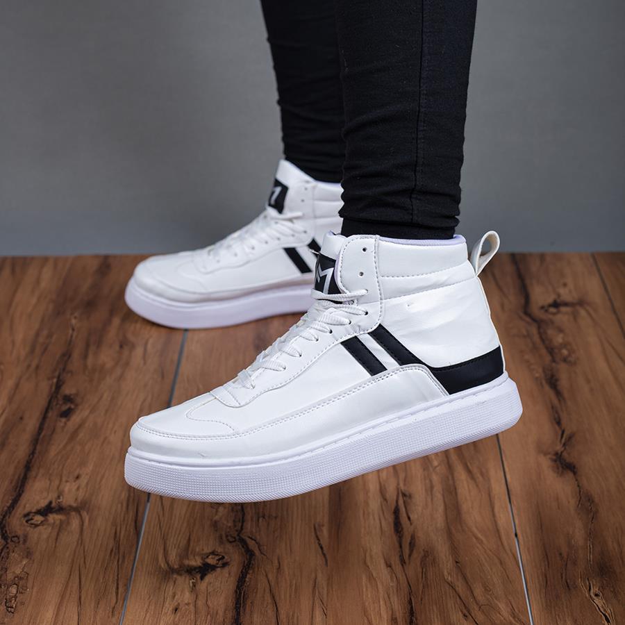کفش نیم بوت مردانه Yamin مدل 1564_رنگ سفید